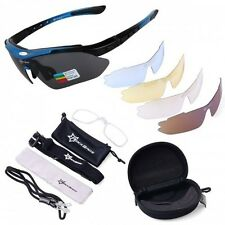Cycling Bicycle Bike 5 Lens Protection Goggle Sun Glasses Sport UV 400 Outdoor