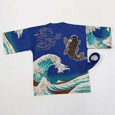 8-10 Womens Ladies Chinese Japanese Oriental Kimono Koi Fish and Sea Top ltop11