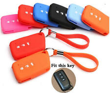 Color Silicone car key chain case for Lexus IS250 IS300 RX200T RX450H RC200T
