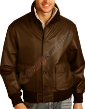 NEW A-1 MEN BOMBER AIR FORCE 100% GENUINE LEATHER JACKET FLIGHT BROWN JACKET