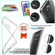 Clear TPU Silicone Gel Protective Transparent Case Cover For Samsung Phone Model