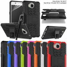 Huawei Y6 2017 Cover Strong Hybrid Shockproof Armour Heavy Duty Hard Stand Case