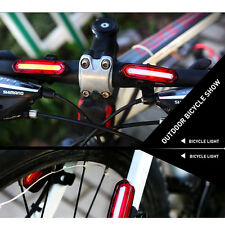 Bike Bicycle LED Rear Tail Light USB Rechargeable Cycling Safety Warning Lamp