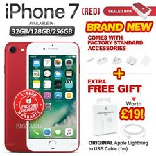 New&Sealed Factory Unlocked APPLE iPhone 7 Red 32 128 256GB Smartphone 1 Yr Wrty