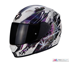 Casco SCORPION EXO-1200 Air Lilium Blanco / Camaleón / Plata