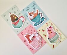 Animals chillaxing cute kawaii kitsch sticky notes post-its sticky markers memo