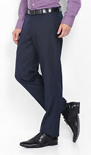 MEN'S TROUSER FORMAL NAVY BLUE. MILLS MADE SOLID TWILL FABRIC FASHION FIT. BEST