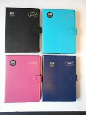 2018 A5 Organiser Diary, Address Book & Pen - Navy Black Turquoise Pink