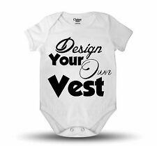 Personalised Design Your Own Vest Baby Clothing Vest Baby Grow Great Gift