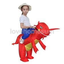 Costume gonfiabile Red Dinosaur T-Rex Riding Role Play partito vestito