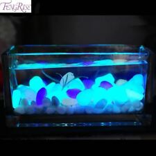 50pcs Glow In The Dark Artificial Luminous Pebbles Stone Aquarium Fish Tank Deco