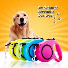 3M 5M One-handed Lock Retractable Dog Leash Automatic Extending Pet Walking Lead