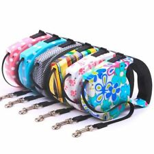 5M Automatic retractable Pet leashes Leads Walking Flat Rope Small Pet Multicolo