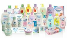 Selection of Johnson's baby skin care products shampoo oil lotion baby bath