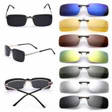 Polarized Clip On Sunglasses Driving Glasses Day Night Vision Lens UV400 Shades
