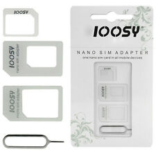 4 in 1 Nano SIM Card Converter Adapter Kit to Micro/Standard