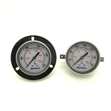 Pressure Gauge 63mm Dial Back Connection with Bracket Hydraulic Pneumatic *GC63