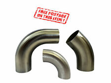 NEW 1D STAINLESS 45 AND 90 DEGREE ELBOWS 1D TIGHT RADIUS EXHAUST MANDREL BENDS