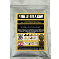 UK Refill Fibers Keratin Hair Building Thickening Fibres 25g Black Brown Blonde
