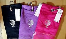 NEW Surprizeshop Tri Fold Towel with Carabiner or Bag Towel with Carabiner