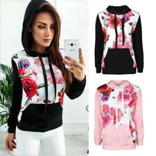 Women's Fashion Floral Coat Outwear Jacket Hoodie Pullover Tops Casual Sweater