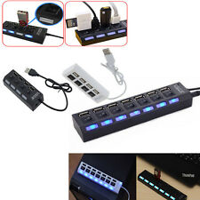 3/4/7-Port USB 2.0 Hub with High Speed Adapter ON/OFF Switch for Laptop PC UP