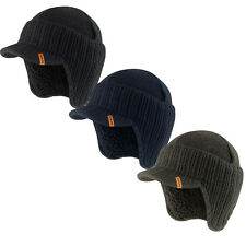 Scruffs Peaked Beanie Hat (Black, Navy or Grey) Winter Insulated Warm Workwear