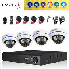 CCTV 4/8 CH DVR System Outdoor HD Home Kit Night Vision 1080p Wide Angle Cameras