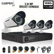 CASPERi 2.0MP Outdoor Night Vision Wide-Angle Bullet Cameras with 4/8 CH DVR