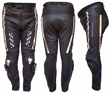 Warrior Rush GP moto cuir vachette CE protection motard pantalon