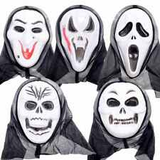 Plastic Halloween Masks Scream Vampire Clown Scary Costume Outfit Adult Size
