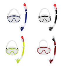 Silicone Standard Scuba Diving Swim Snorkeling Mask Goggles and Snorkel Tube Set
