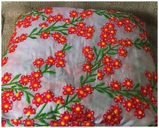 Kurti Material Blouse Fabric by meter Red Yellow Embroidery Sequin Grey Chanderi