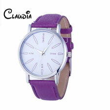 Newest 8Colors Claudia Special Fashion Women Stainless Steel Leather Band Quartz