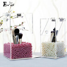 Crystal Acrylic Makeup Brush Box Organizer Makeup Cosmetic Storage Tool Flashing