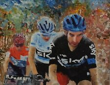 Chris Froome tour de france Cycling art painting framed or unframed