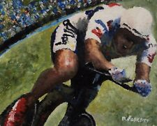 Chris Boardman Tour de France Cycling Original painting framed or unframed