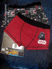 2 PAIRS DISNEY STAR WARS BOYS BOXERS RED/BLACK  - AGES 5/6 - 7/8 - 9/10 - 11/12