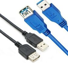 USB 3.0 Type A to A Extension Cable FAST USB3 Male / Female Lead Blue/Black Lot