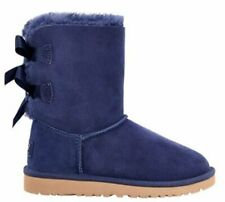 UGG 3280 BAILEY BOW PEACOT KIDS STIVALE SHEARLING DUE FIOCCHI BLU