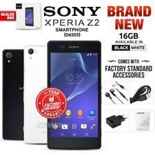 New&Sealed Factory Unlocked SONY Xperia Z2 D6503 Black White 16GB Android Phone