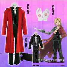 NUOVO ANIME FULLMETAL ALCHEMIST EDWARD elric's COSPLAY COSTUME TUTTO Set HK