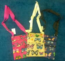 New funky long strap shoulder cross body butterfly bag colourful 2 zip compart