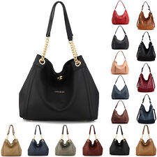 Ladies Hobo Shoulder Bag Womens Large Handbags Faux Leather New Designer Fashion