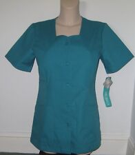 CHEROKEE TEAL Scrubs Style 1850 Hospital Dentist Tunic Button Front  UK 14,20,24