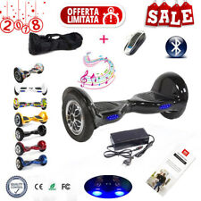 BLUETOOTH HOVERBOARD 10'' LED SMART BALANCE MONOPATTINO ELETTRICO SCOOTER @SU