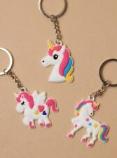 UNICORN CHARM KEYRING 3 DESIGNS STOCKING FILLER GIFT
