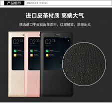 Premium Pu Leather Smart Flip Cover with S view For Xiaomi Redmi Note 4
