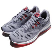 Wmns Nike Zoom Winflo 4 IV Grey Red Women Running Shoes Sneakers 898485-002