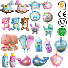 New Baby Shower Party Latex Printed Balloons foil Baby Girl Boy balloons Ribbons